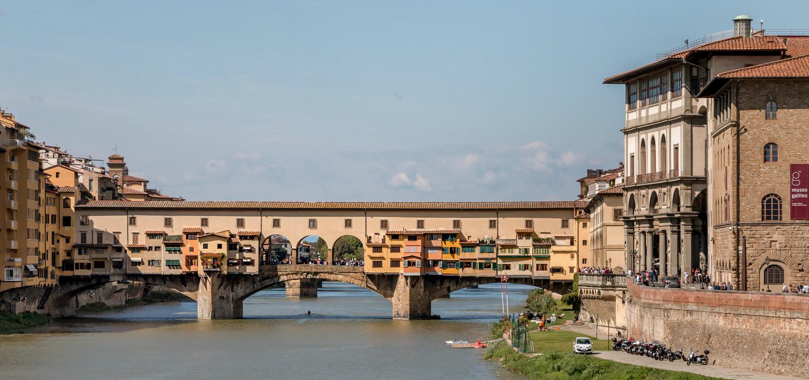 Photo of the Ponte Vecchio bridge in Florence